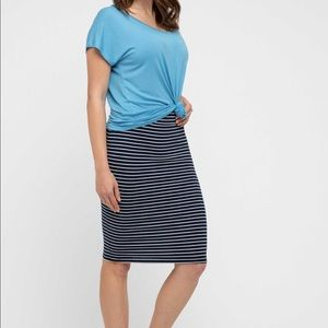 Mossimo textured striped pencils skirt large